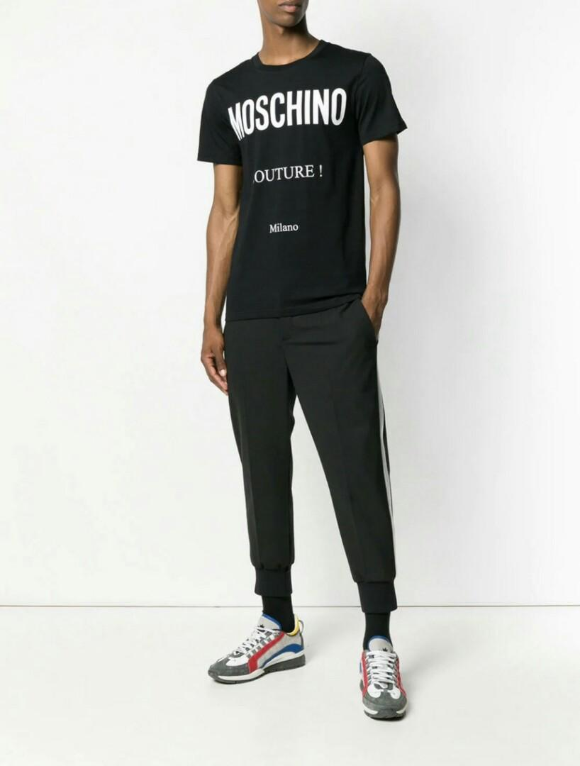 Ready MOSCHINO COUTURE Logo T-Shirt Color : Black  Size 48 IT - 52cm Size 50 IT - 54cm Size 52 IT - 56cm
