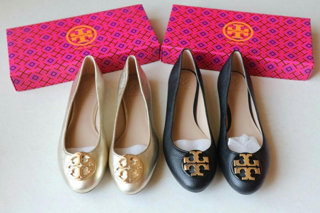 Ready Tb claire flats black Size 7 10 //  Tb claire flats  Gold size 6.5