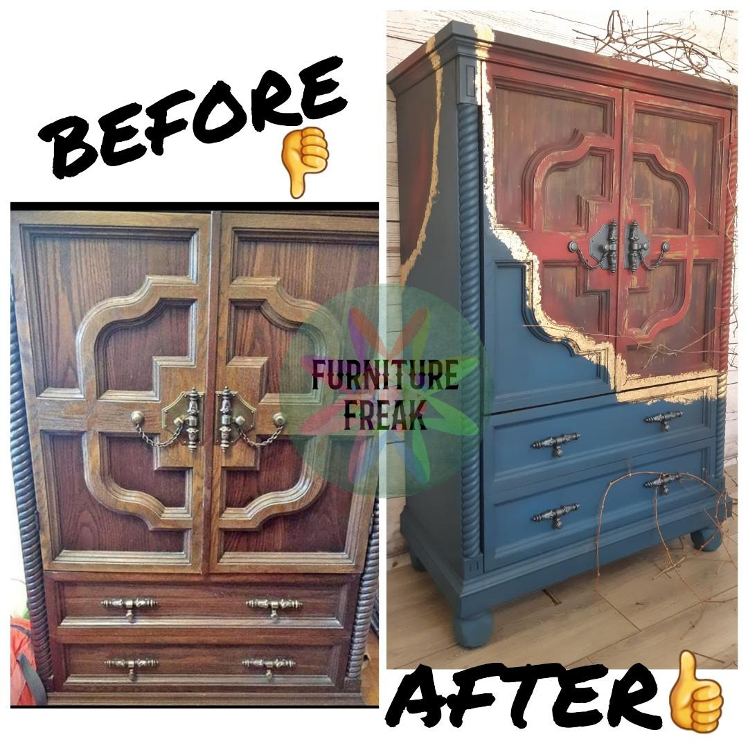 Refinished solid dresser