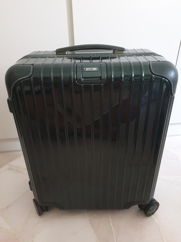 af4a3c78e Rimowa Bossa Nova Olive Green Cabin Luggage, Travel, Travel Essentials,  Luggage on Carousell