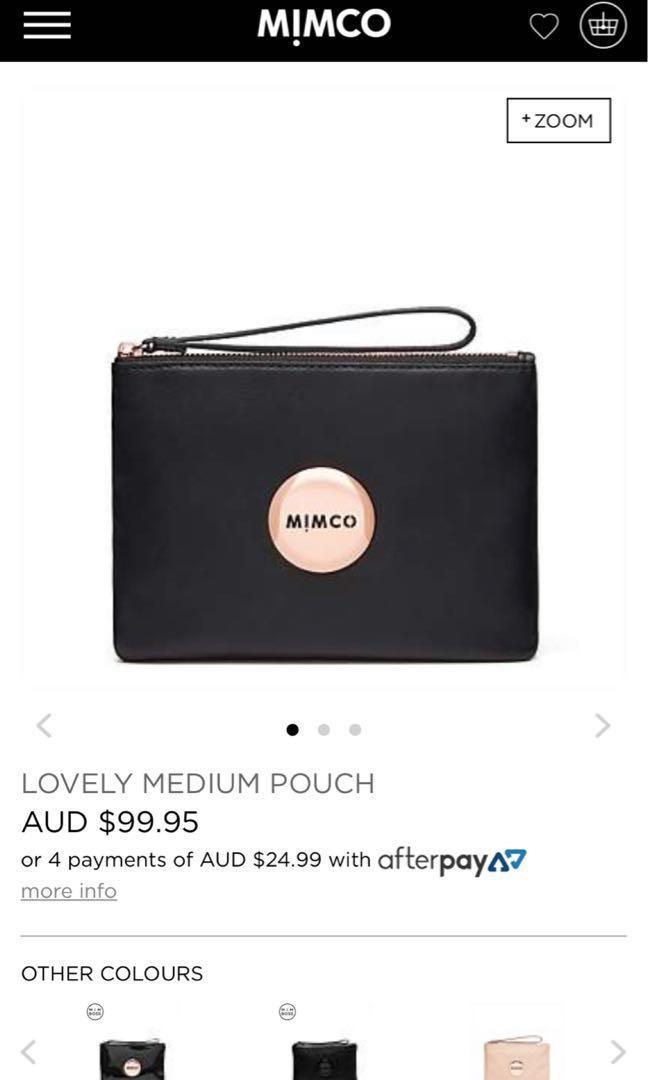 Rose gold medium mimco pouch