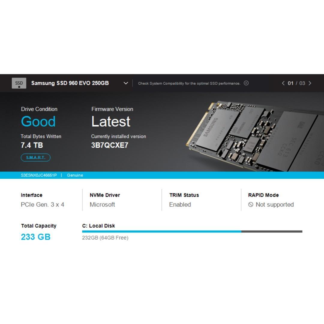 Samsung SSD EVO 960 M.2 NVME 250GB