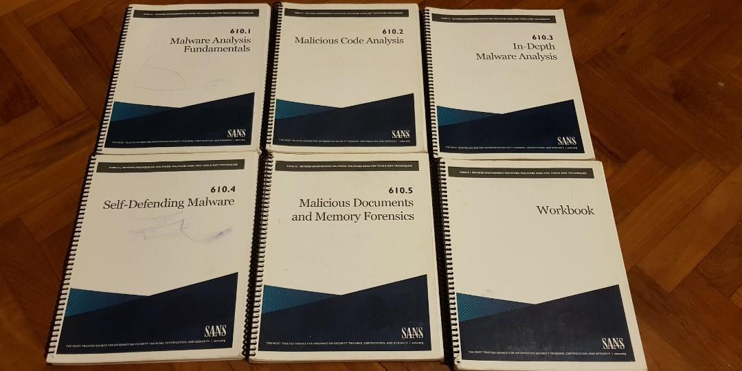SANS 610 GREM 2017 GIAC REVERSE ENGINEERING MALWARE