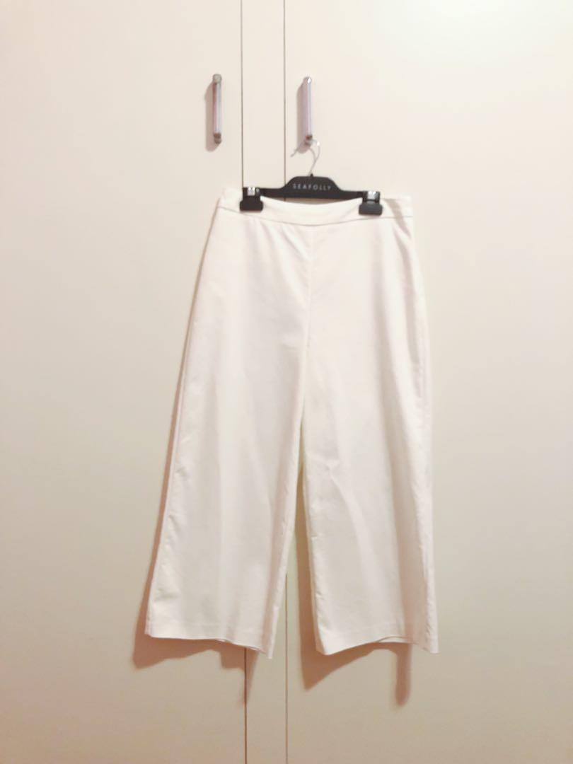 Seed white cropped pants