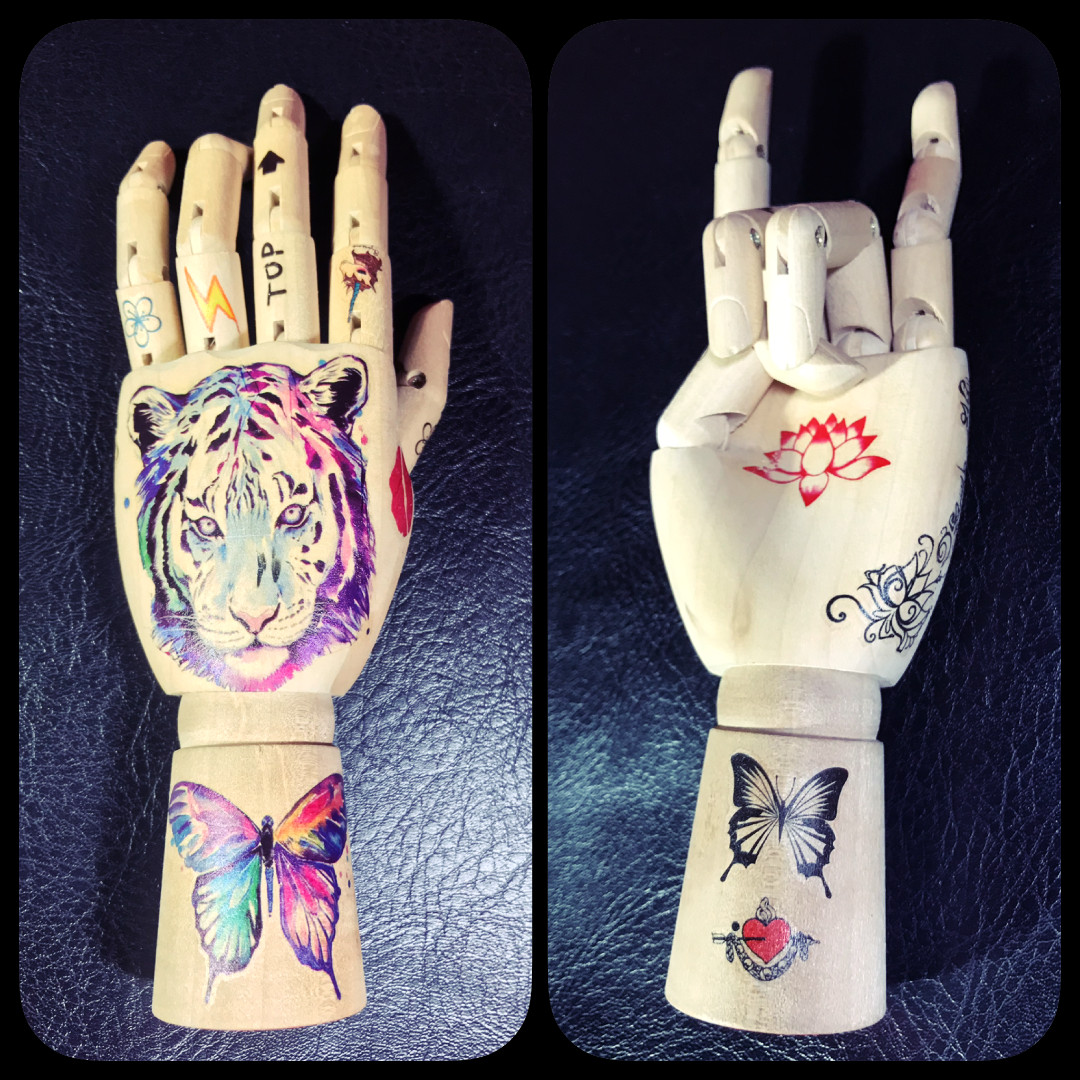 14d3a029f6c04 Skull Traditional American Minimalist Temporary Tattoo Sticker ...