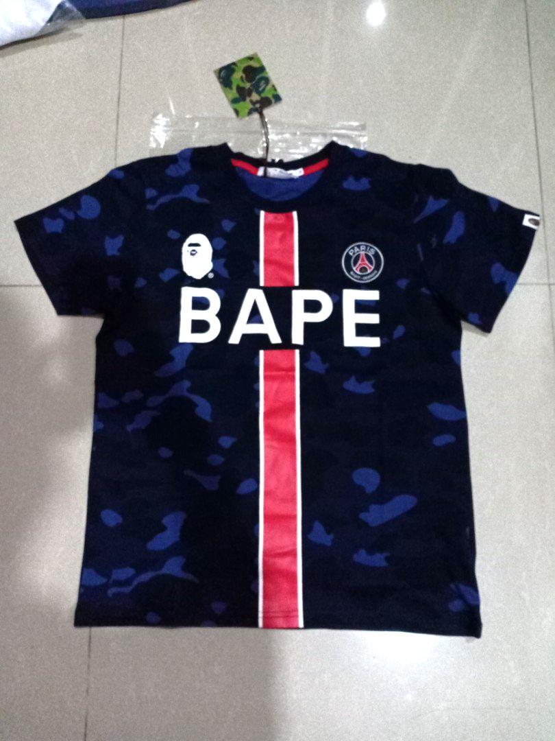 official photos f5946 99ead Tshirt Bape x PSG Paris Saint Germain M-XXL 2019