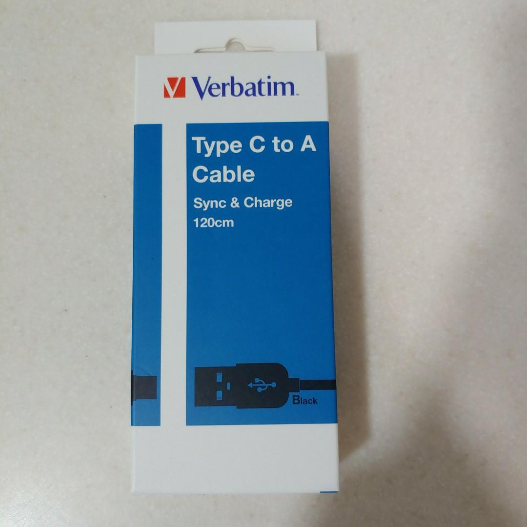 Verbatim Type C to A Cable