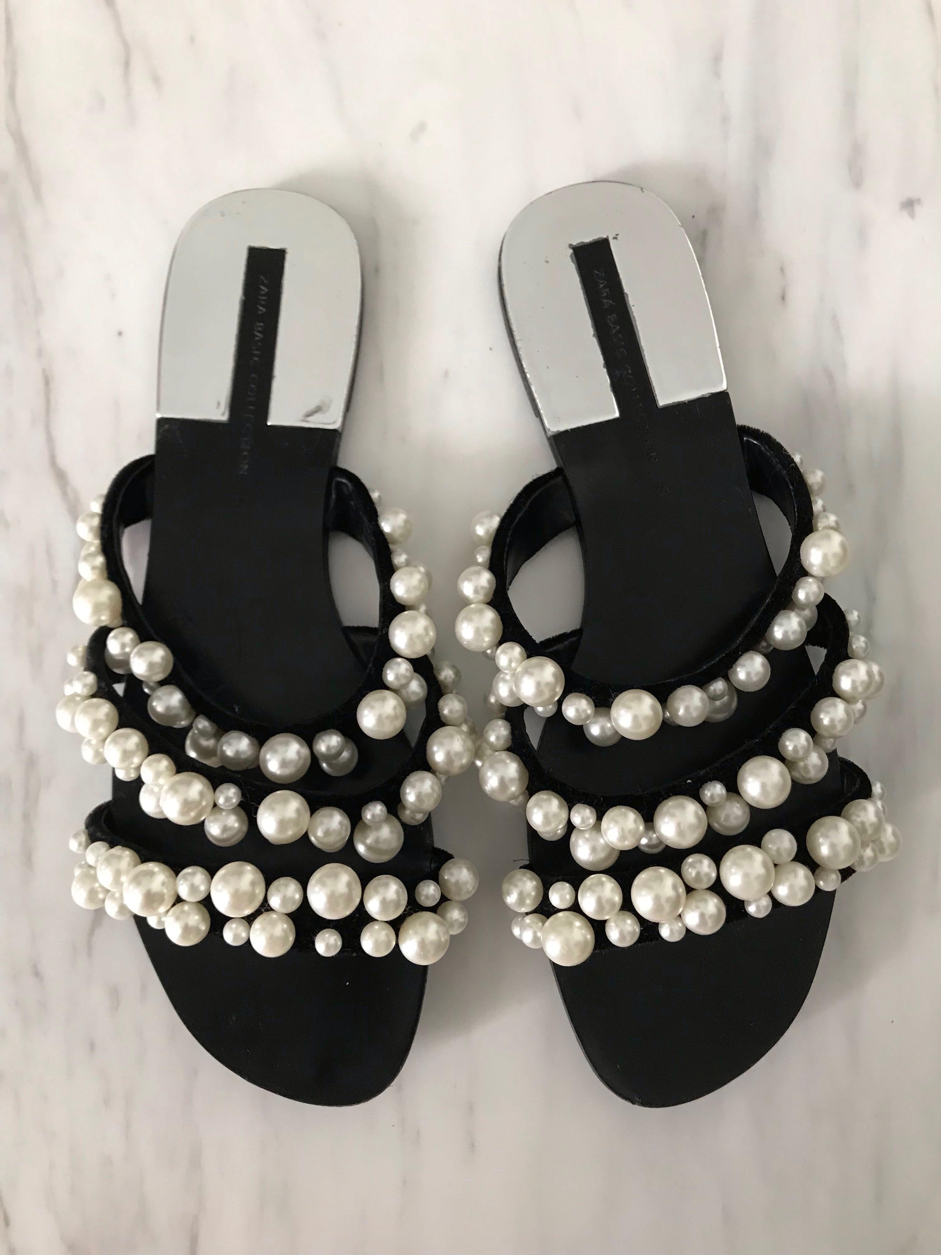 657205b3e18 Zara Pearl Sandals