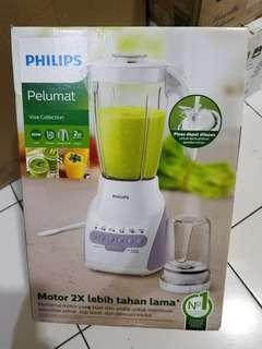 Blender Philips Wadah Plastik HR2115 BARU