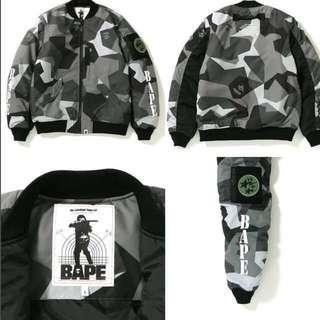 815321122e65 Bape tiger embroidery reversible light bomber jacket