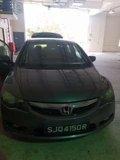Honda civic 1.8a for rent, lease to own available