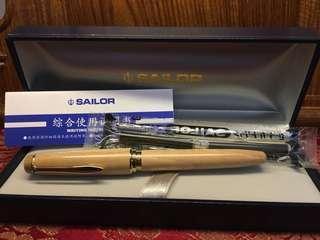 寫樂Sailor世界銘木系列-14K 橡木鋼筆f尖