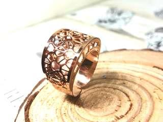 Made in Italy!! Filigree ring in silver 925 (Rose Gold Plated) - size adjustable