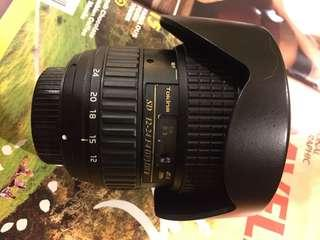 Tokina AF 12-24mm f/4 AT-X 124 Pro DX II Lens - Nikon Mount