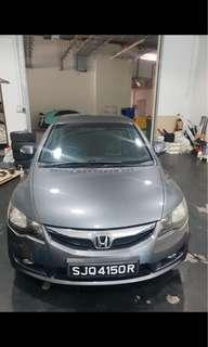 Honda Civic 1.8A for rent, lease to own possible