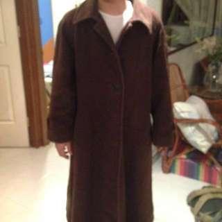 Alpaca Wool Brown Coat