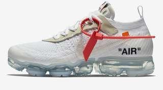 🚚 Nike off white vapormax the 10黑白