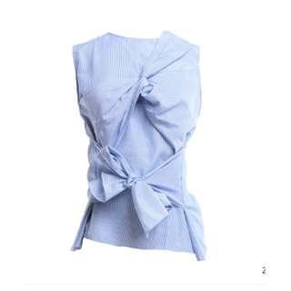 Shopatvelvet Blue Stripe Top