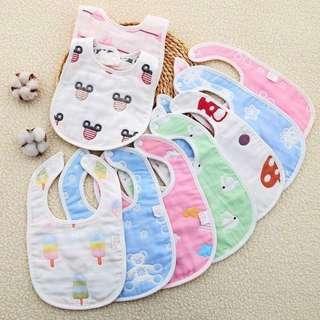 🚚 U型六層棉質口水巾