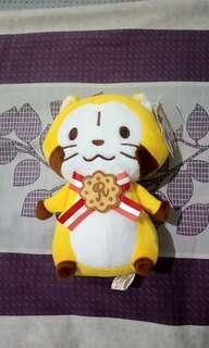 🚚 日本插畫 可愛 小浣熊 娃娃