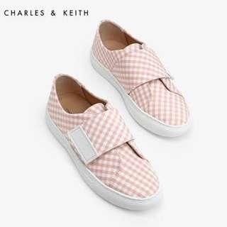 Charles and Keith Pink Velcro Sneakers