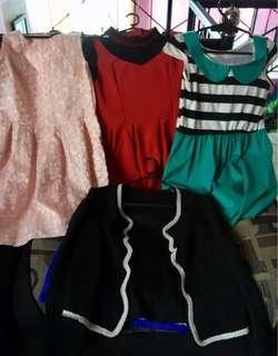 Dresses and cardigan