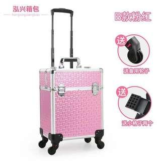 4-Wheels Organiser Professional Storage Trolley Bag For Makeup/Manicure/Hair Tools Semi-Forever Multilayer Toolbox