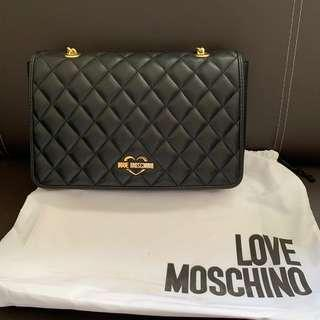 Used Once Moschino Gold Chain Quilted Bag