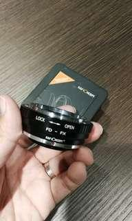 Canon FD to Fuji FX adaptor