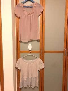 Mysty woman top (2pcs) 透視上衣兩件