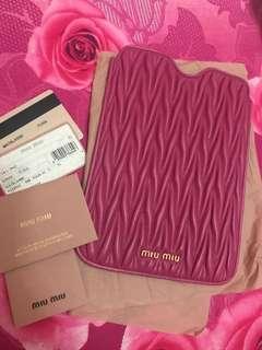 💖Only $190😱💖BN Miu Miu Ipad Tablet Tab Mini Lambskin Matelasse Case Cover Pink Ghw