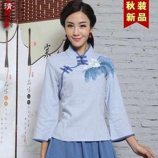 Chinese Tea Ladymaster 2-piece Sets (left blue top)