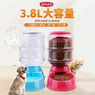 《小搗蛋鬼の王國》寵物自動餵食器3.8L 狗狗飲食器 餵食器 小狗飼料器 狗貓餵食器 狗碗 飼料盆