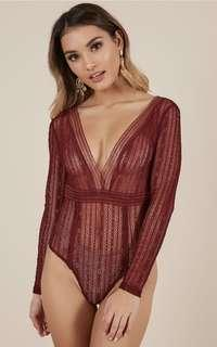 Body Suit in Wine