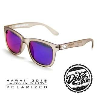 """🚚 HAWAII - """"JUICY"""" FROSTED GREY/BLUE-RED POLARIZED SUNGLASS"""