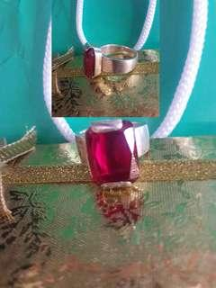 Costumized  Ruby Ring in Silver