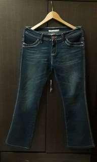 🚚 全新XL牛仔褲 微喇叭褲 視覺-5kg