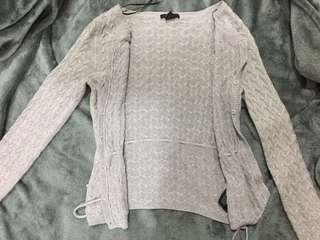 H&M Grey Knitted Cardigan