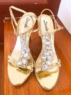Gold Wedding Heels w/ Diamonds