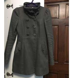 Lightly used Army Green Button Up Pea Coat- Size 2