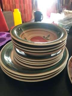 Plates & Bowl RM50 for all