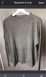 Sweater - knit rajut abu abu