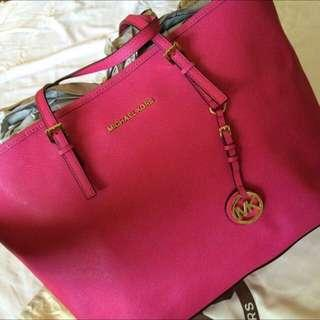 Authentic Michael Kors Medium Pink Jet Set