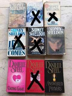 Danielle Steel And Sidney Sheldon books