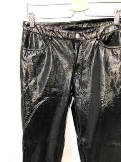 Zara black vinyl pants