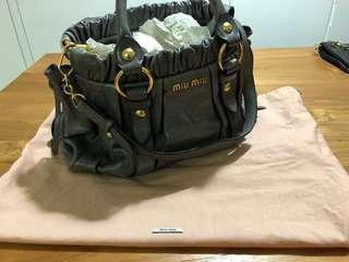 Miu Miu Grey Classic Leather Bag