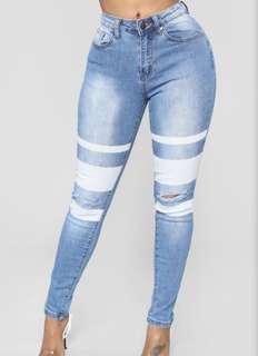 Fashionnova Knee Slit Jeans