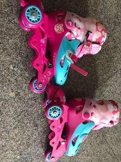 🚚 Barbie Skates for girls 3-7 years ( adjustable)