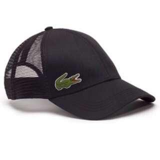 Bnew Authentic LACOSTE Men's Men's Trucker Cap, Black