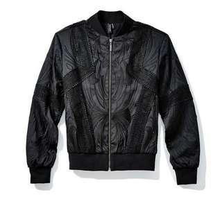 Marciano Black Beaded Bomber Jacket